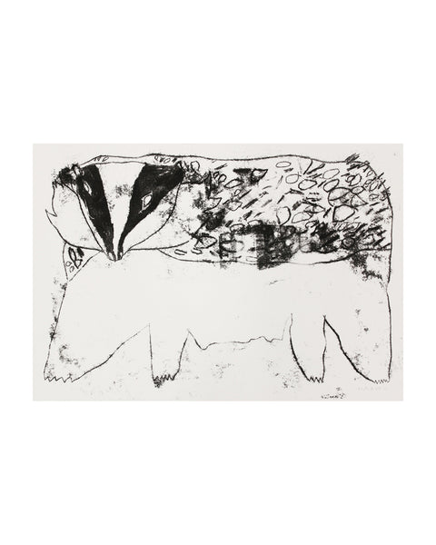 Badger Monoprint