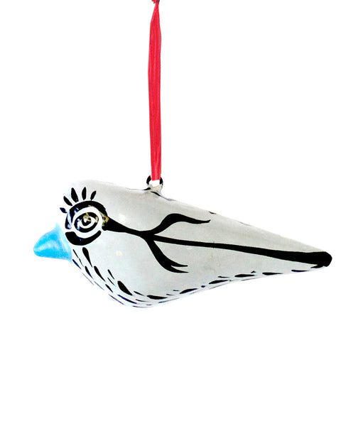 MODERNIST BIRD : BIG EYES (WHITE)