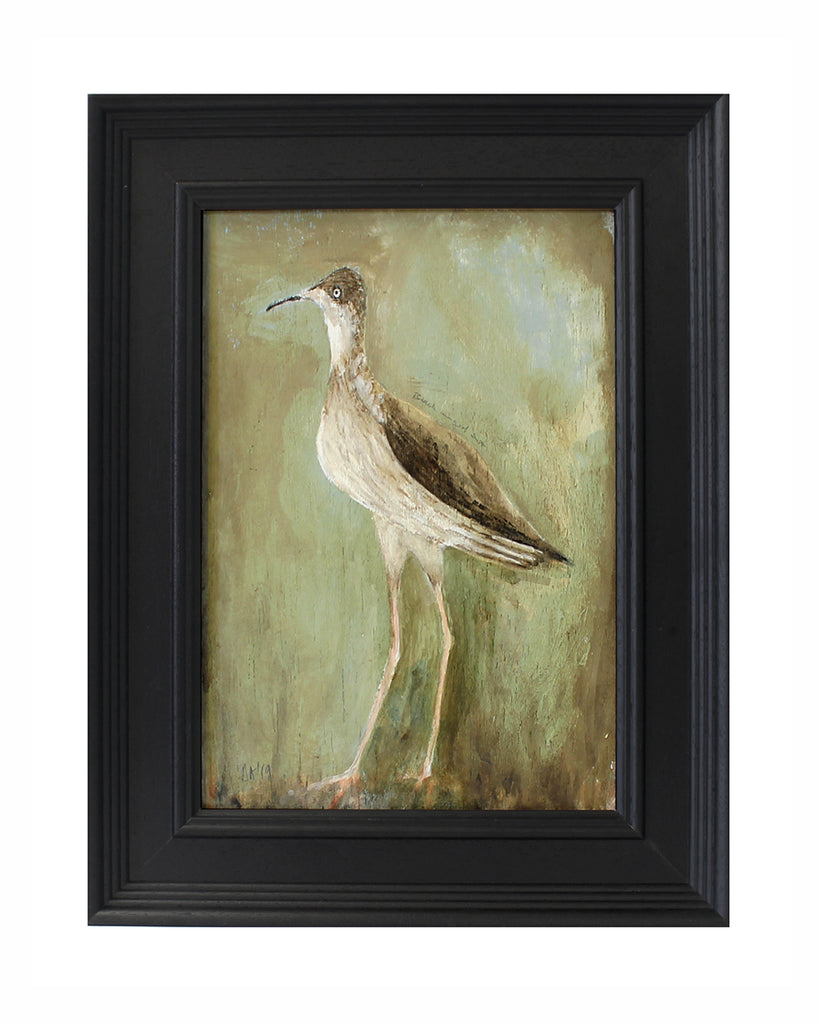 Original Painted Panel - Black Winged Stilt