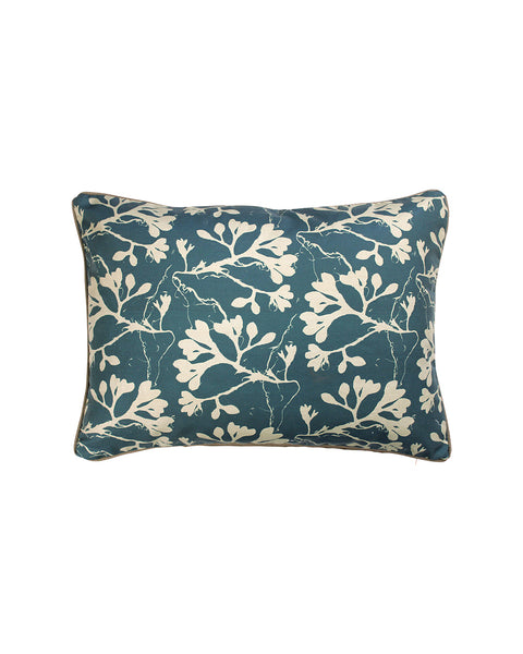 Seaweed Cushion Cover | Deep Sea Blue