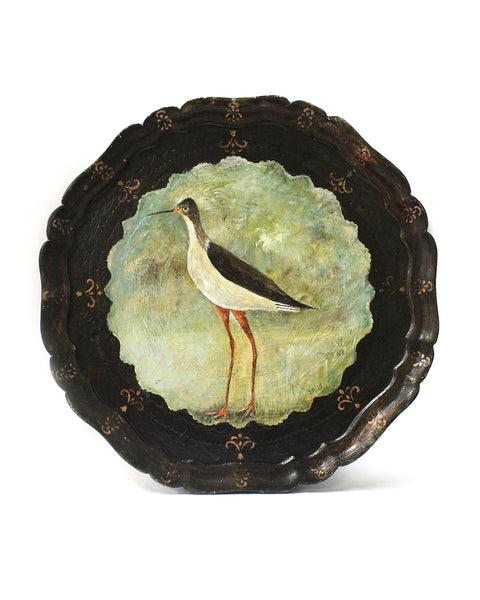 Black-winged Stilt | Hand Painted Tray