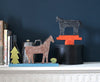 SALE: Cardboard Sculpture: Black Horse / Orange Three