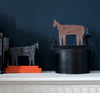 SALE: Cardboard Sculpture: Black Horse | Orange Two