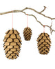 GIANT Cardboard PINE CONES Kit (SET OF 3)