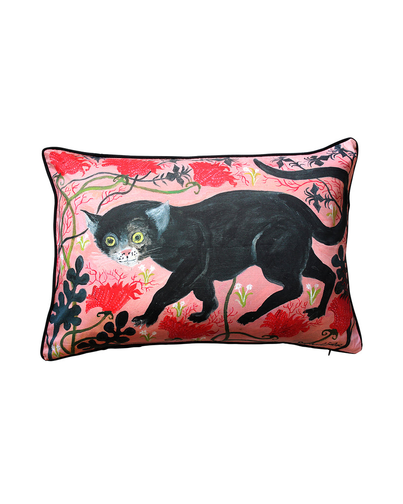 Large Cushion cover: Black Cat