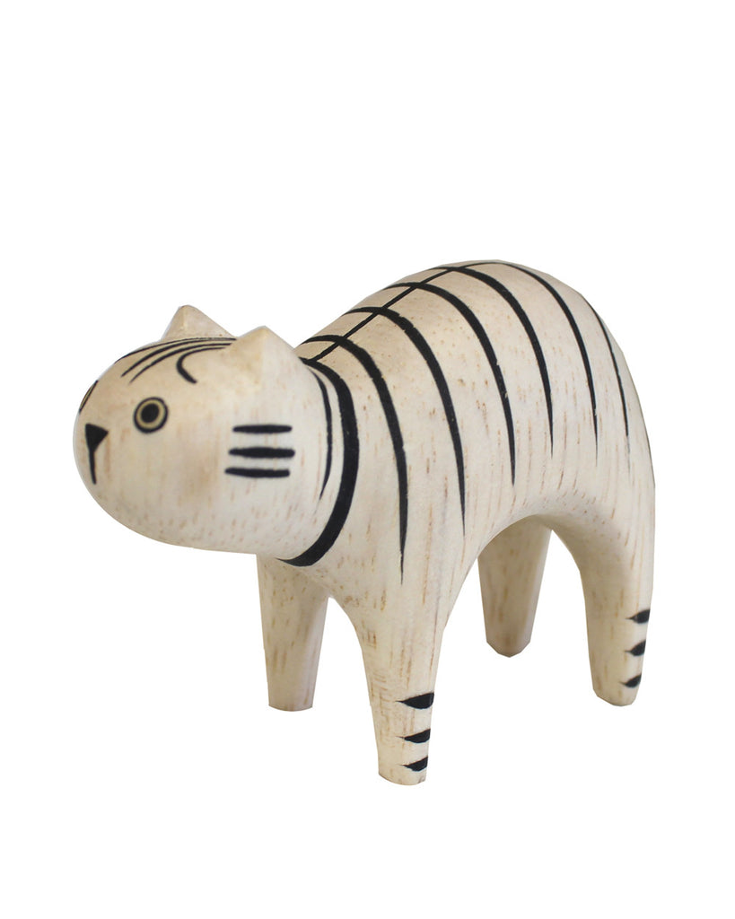 Wooden Animal Cat Stripe