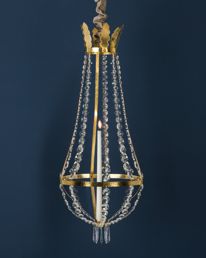 Candle Chandelier Brass