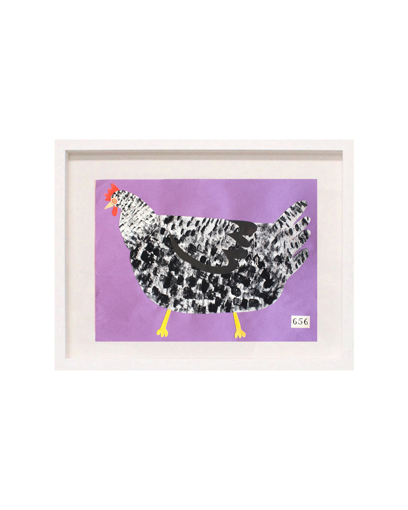Chicken No. 656 (Original Framed Collage)