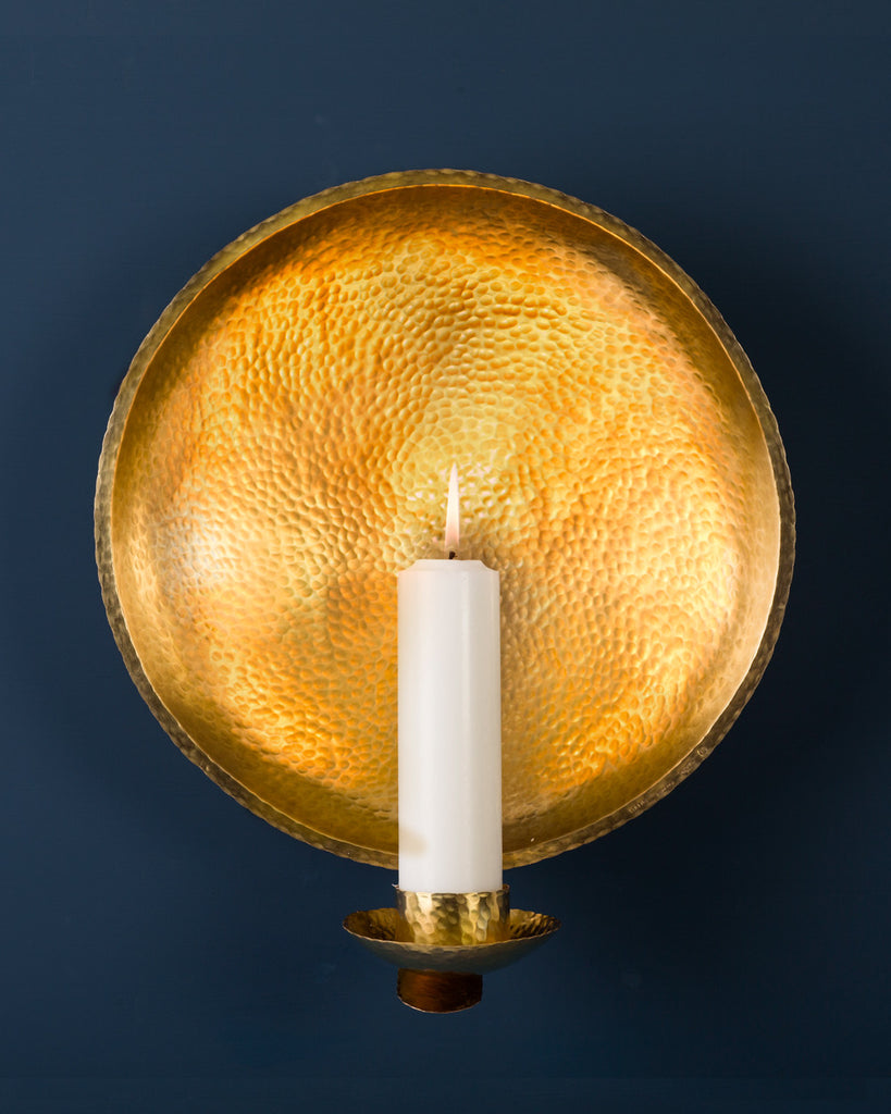 Candle Sconce: No2 Church 35cm: Brass