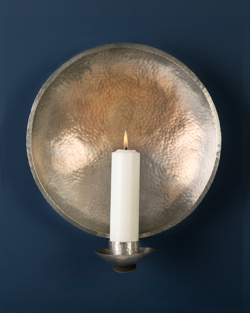 Candle Sconce: No2 CHURCH 35cm: Pewter