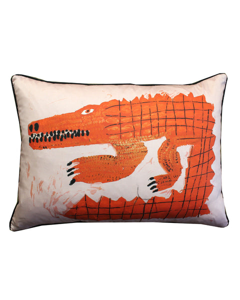 A: Cushion Miroco Machiko Crocodile