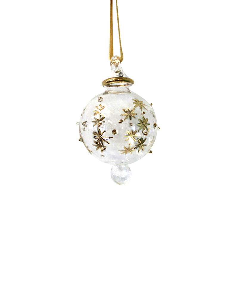 Hand Blown Decoration: Celeste Gold (small)