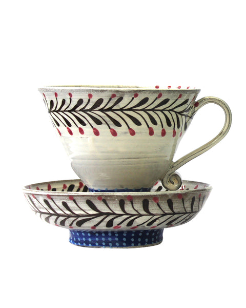 Large Cup & Saucer No8