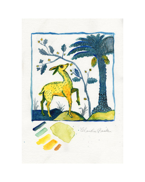 Study for Tile | Hart & Palm Tree