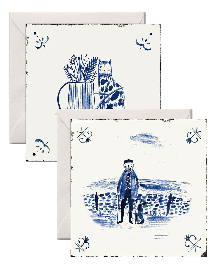GREETINGS CARDS DELFT TILES