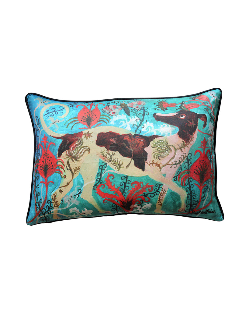 Large Cushion cover: Floral Dog