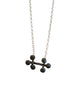 Treasure Necklace - Double Clubs (oxidised silver)