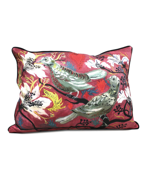 Large Cushion: Pair of Doves