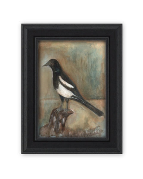 Original Framed Painted Panel - Magpie No.2