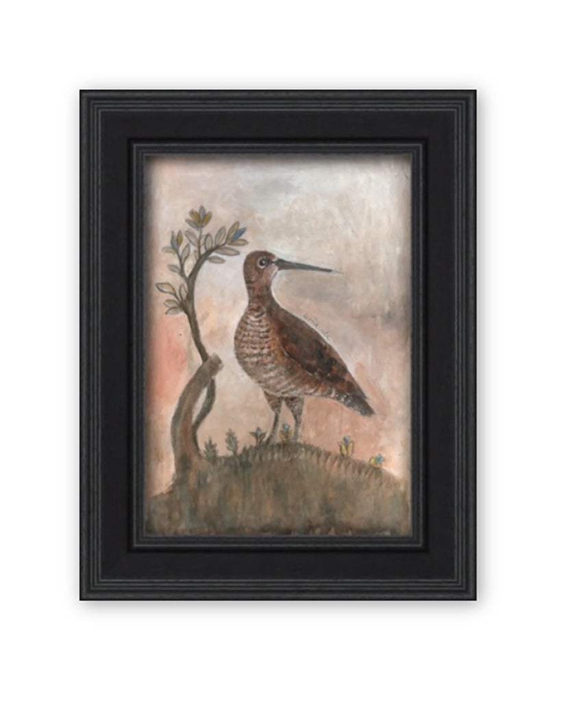 Original Framed Painted Panel - The Woodcock