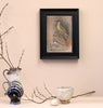 Original Framed Painted Panel - Green Woodpecker & Wagtail