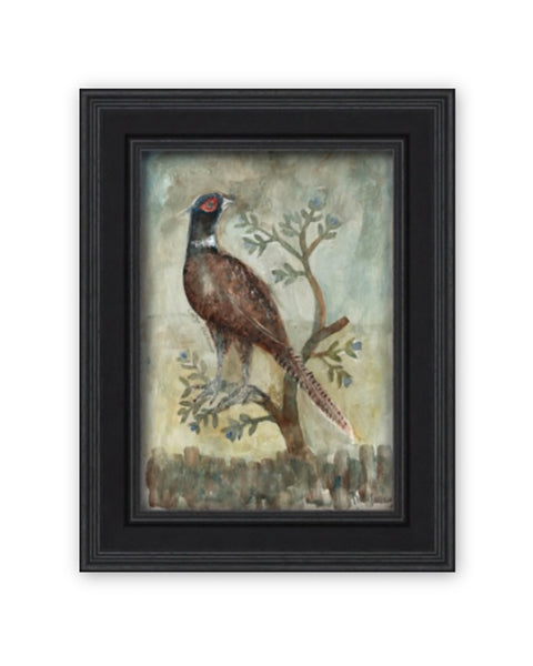 Original Framed Painted Panel - Large Pheasant