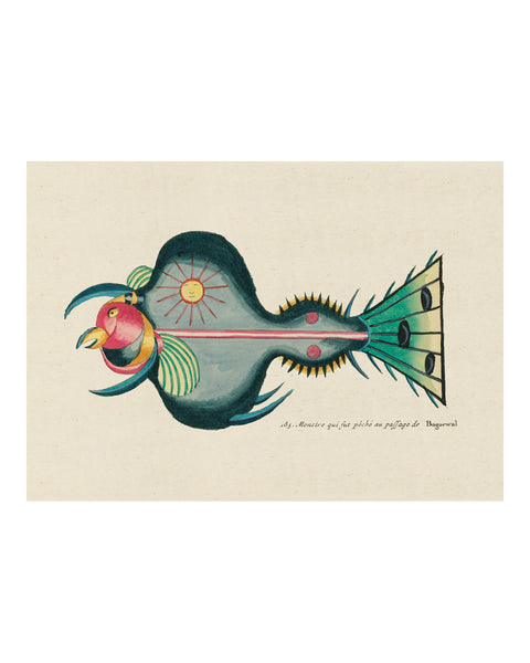 Folk Art Fish No6