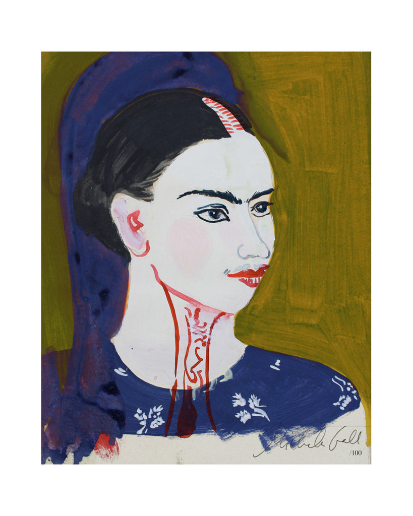 Painted Portrait - Frida Kahlo