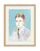Original Painting - F. Scott Fitzgerald (framed)
