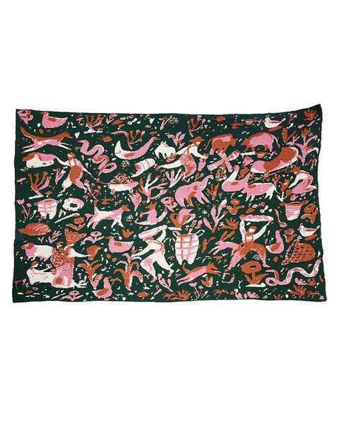 Folk Art Blanket (Large): The Gardeners