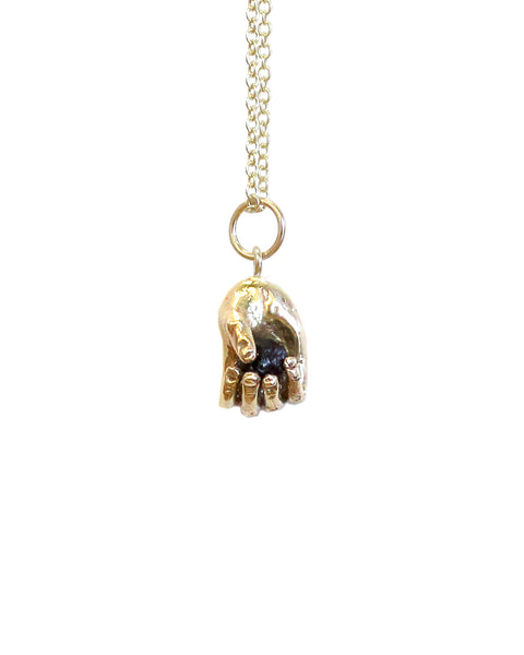 Talisman - Mudlark Hand Necklace (GOLD)