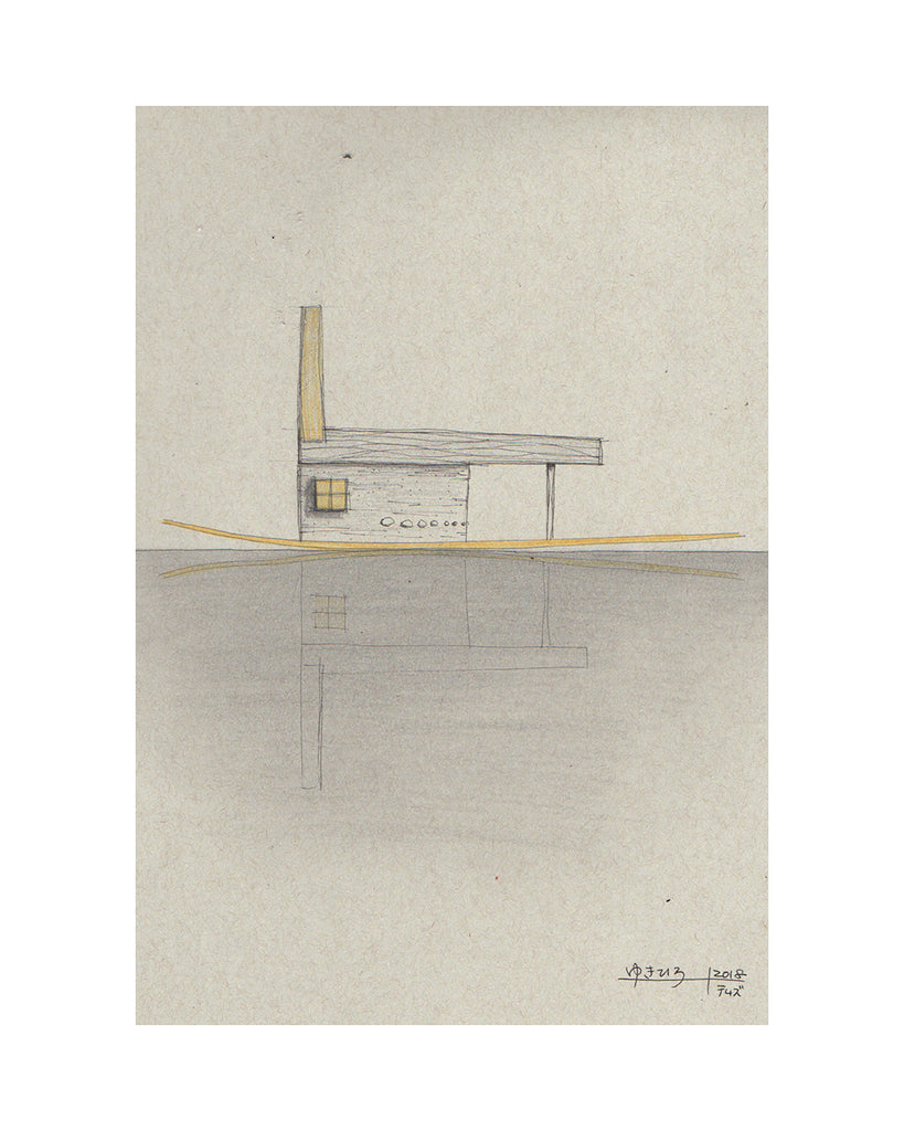 Yukihiro Akama: Original drawing: River House 1