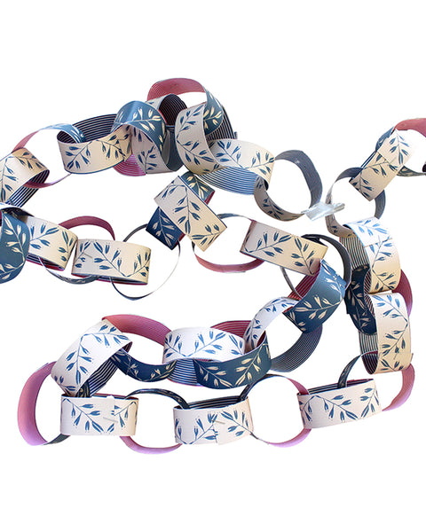 PAPER CHAIN GARLAND KIT: MISTLETOE (Swedish Blue)