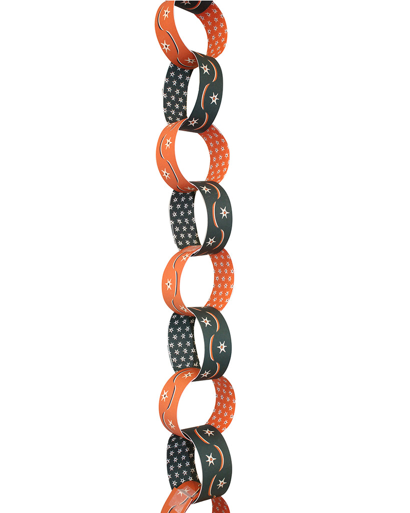 PAPER CHAIN GARLAND KIT: Star Swag (Spiced Orange & Midnight)