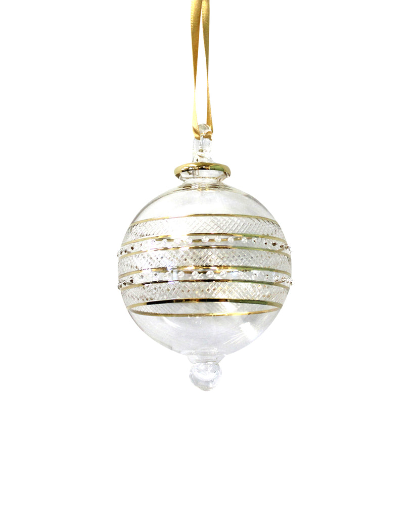Hand Blown Decoration: Eternity Gold (large)