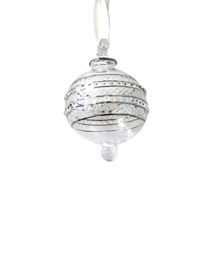 Hand Blown Decoration: ETERNITY Silver (small)