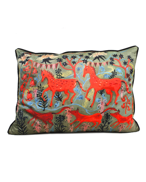 Large Cushion: the horse fair