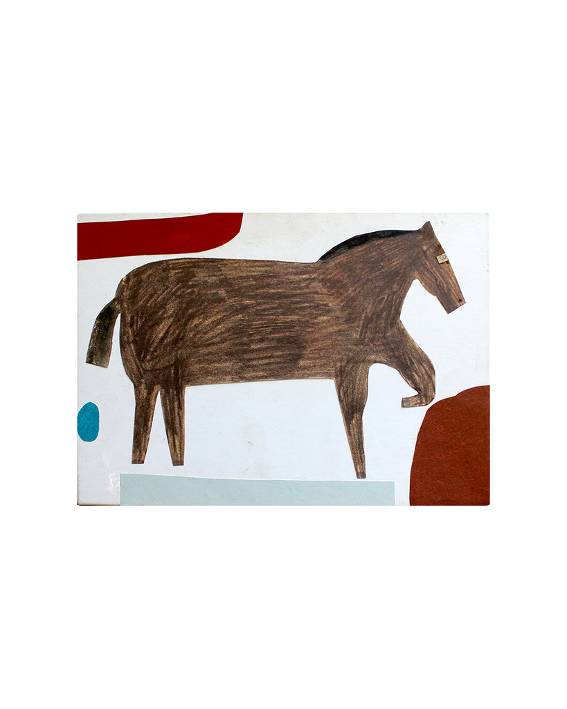 Kate Black: Box Collage: Horse & Blue Dot