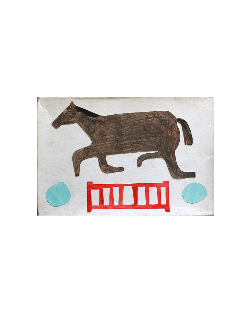 Kate Black: Box Collage: Horse & Red Fence