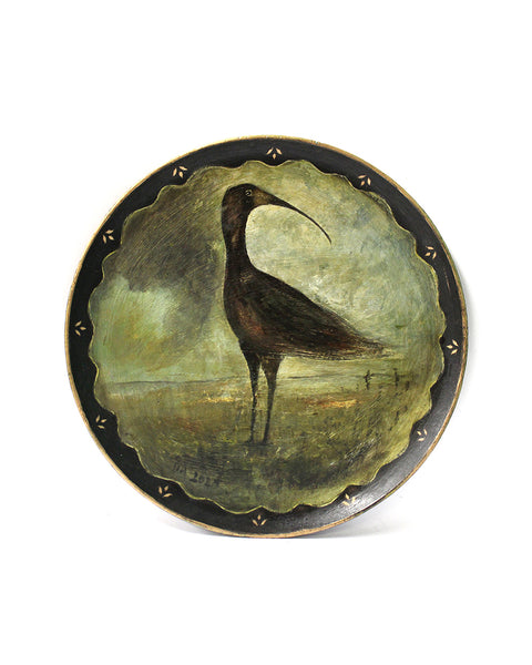 Glossy Ibis | Hand Painted Tray