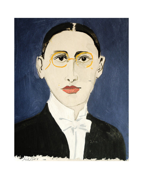 Painted Portrait Igor Stravinsky