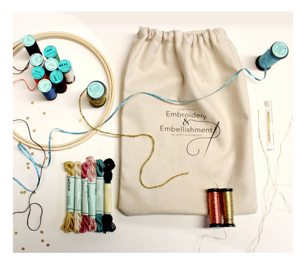 EMBROIDERY & EMBELLISHMENTSTARTER  KIT (WITH BOOK)