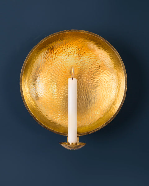Candle Sconce: No3 Large 29cm: Brass