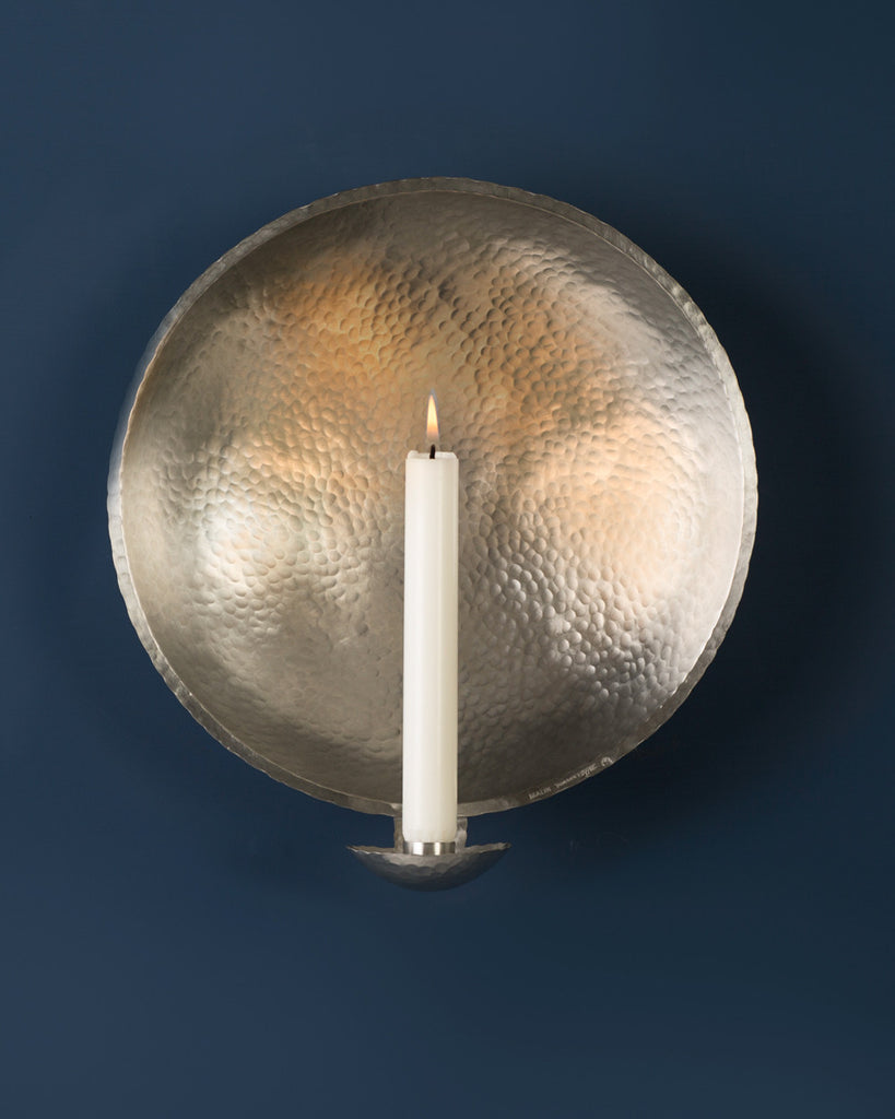 Candle Sconce: No3 LARGE 29cm: Pewter