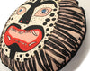 circular Cushion: Leopard Mask