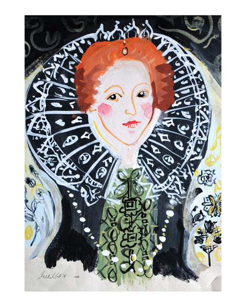 Painted Portrait Queen Elizabeth I