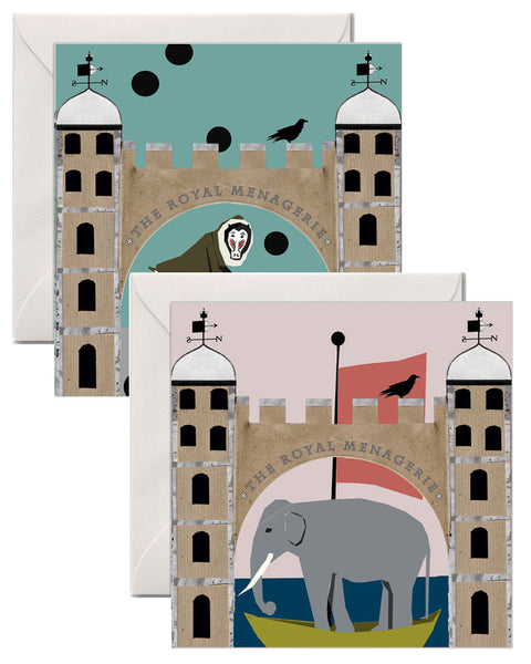 GREETINGS CARDS THE TOWER MENAGERIE