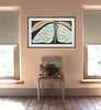 Spanish Moon Moth (Framed Painting)