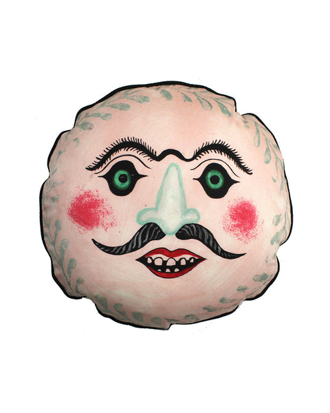 Circular Cushion: Mr Moustache