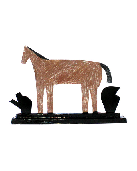 SALE: Cardboard Sculpture: Horse | Black Shapes